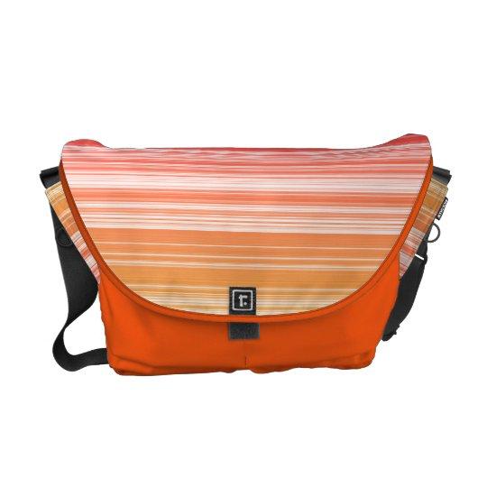 Orange stripes commuter bag