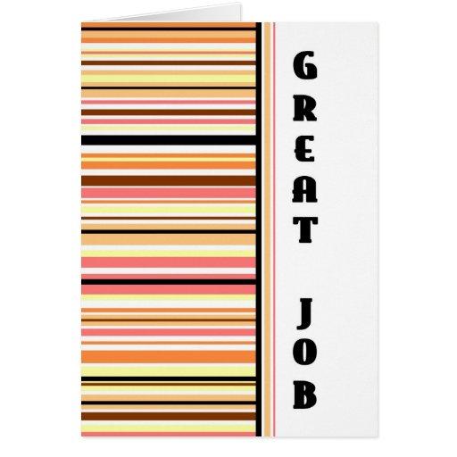 Orange Stripes Employee Anniversary Card