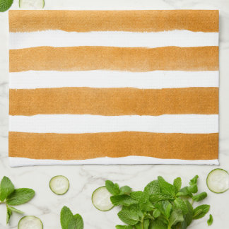 Orange stripes kitchen towel