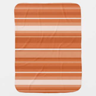 Orange stripes swaddle blankets