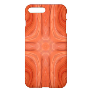 Orange stylish wood pattern iPhone 8 plus/7 plus case