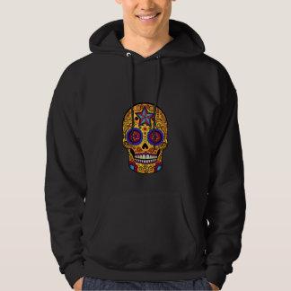 Orange Sugar Skull Hooded Sweatshirts
