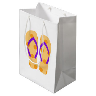 Orange Summer Beach Party Flip Flops Gift Bag