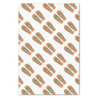 Orange Summer Beach Party Flip Flops Gift Tissue Tissue Paper