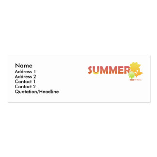 Orange Summer Flowers Profile Card Pack Of Skinny Business Cards