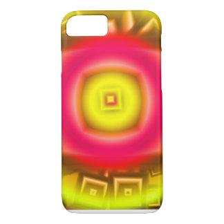 Orange Sun Abstract iPhone 7 Case