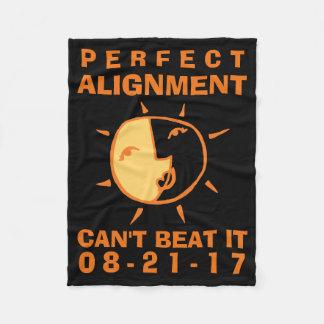 Orange Sun and Moon Eclipse Perfect Alignment Fleece Blanket