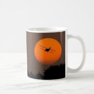 ORANGE SUN BIPLANE CLASSIC WHITE COFFEE MUG