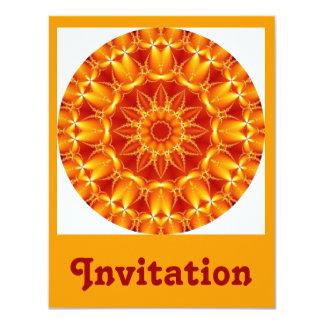 Orange Sun Card