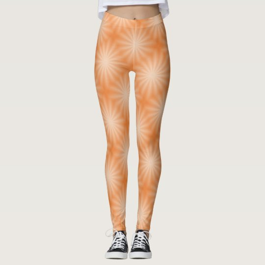Orange Sunburst Fun Leggings