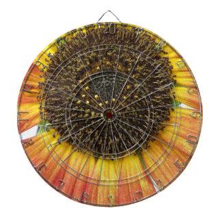 Orange Sunflower Dart Board