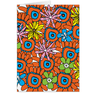 Orange Sunflower III Card