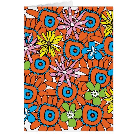 Orange Sunflower III Card