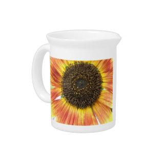 Orange Sunflower Pitcher