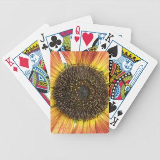 Orange Sunflower Playing Cards