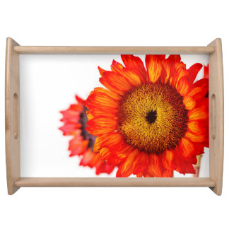 Orange Sunflower Serving Tray