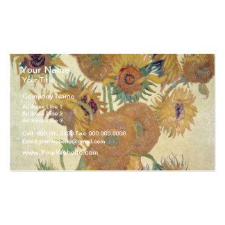 Orange Sunflowers, Vincent Van Gogh, Holland flowe Business Card