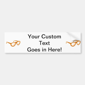 orange sunglasses reflection bumper sticker
