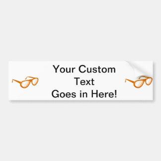 orange sunglasses reflection bumper sticker