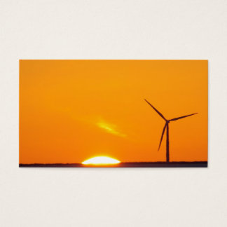 Orange Sunset Business Card