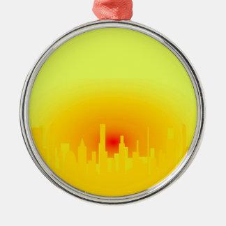 Orange Sunset Christmas Ornament