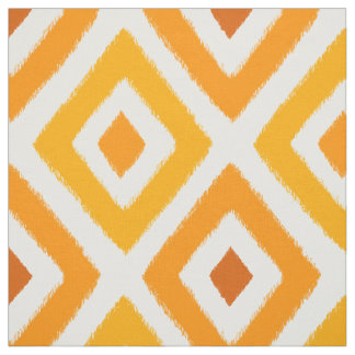 Orange Sunset Ikat Fabric