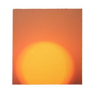 Orange Sunset Notepad
