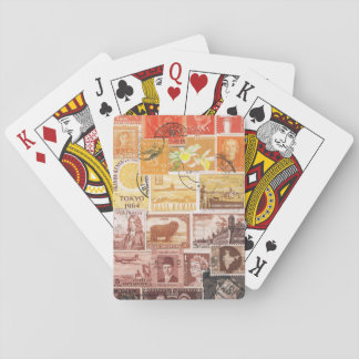 Orange Sunset Playing Cards, Hippie Travel Art Deck Of Cards
