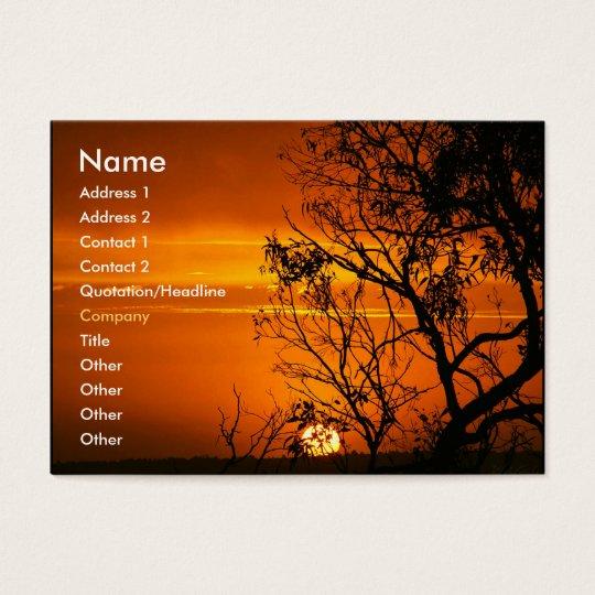 Orange Sunset Profile Card