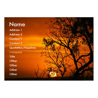 Orange Sunset Profile Card Business Card Template
