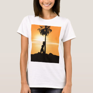 Orange sunset scenery T-Shirt