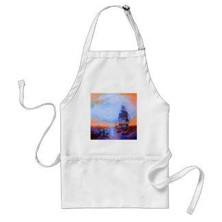 Orange, sunset, sky, boats apron