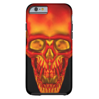 Orange Sunshine Skull Tough iPhone 6 Case