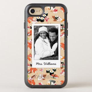 Orange Sushi Pattern | Add Your Photo OtterBox Symmetry iPhone 8/7 Case