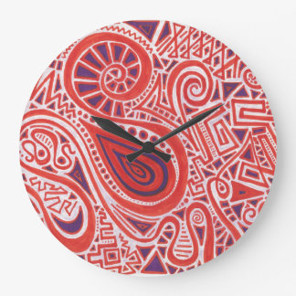 Orange Swirl Clock