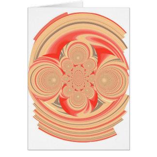 Orange swirl design greeting card
