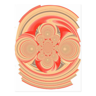 Orange swirl design post cards