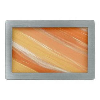 Orange Swirls Rectangular Belt Buckles