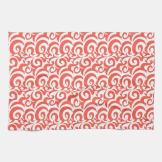 Orange Swirls Tea Towel