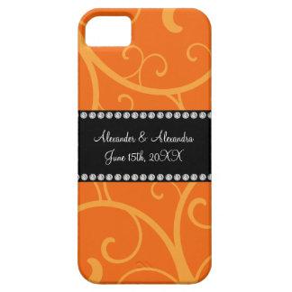Orange swirls wedding favors iPhone 5 covers