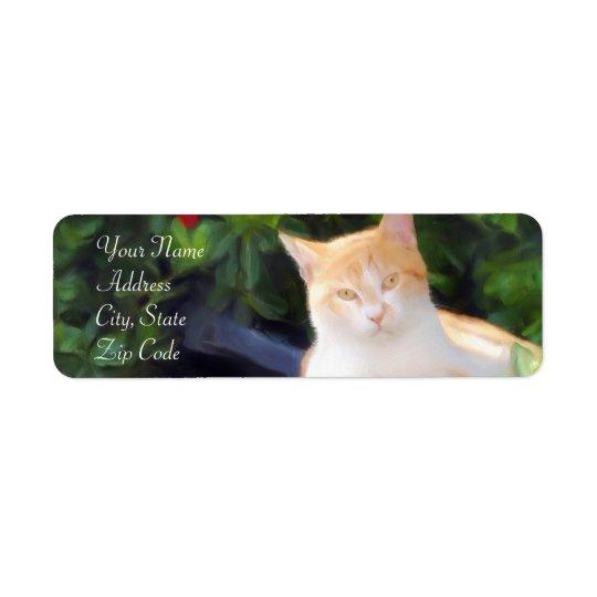 Orange Tabby Cat Address Labels