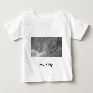 Orange Tabby Cat/Black & White Photo Tshirts