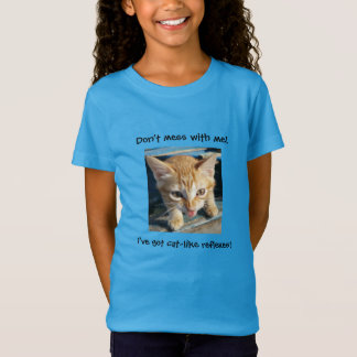 "Orange Tabby Cat ""Don't mess with me!"" T-shirt"
