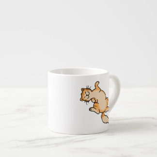 Orange tabby cat espresso cup