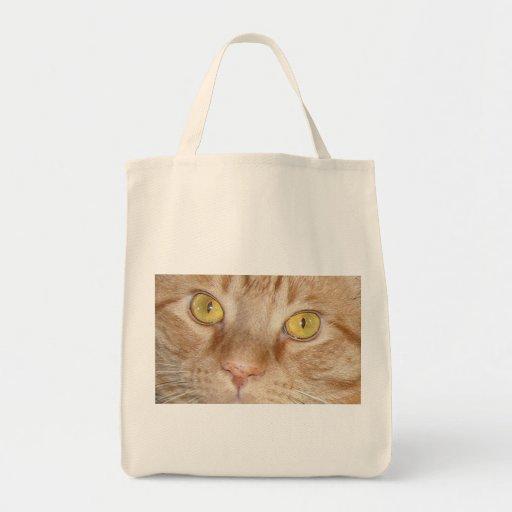 Orange Tabby Cat eyes Tote Bag