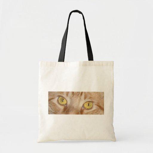 Orange Tabby Cat Eyes Canvas Bag
