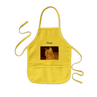 Orange Tabby Cat Face Profile Kids Apron