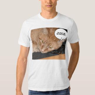 Orange Tabby Cat Humor/Cell Phone T-shirts