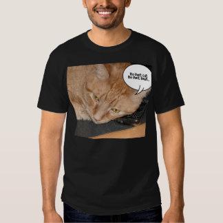 Orange Tabby Cat Humor/Cell Phone Tee Shirts