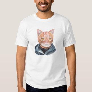 Orange Tabby Cat in Hoodie Funny Ginger Bro Cat